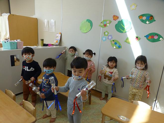 たまご組1歳児の子どもたちの先週の様子です